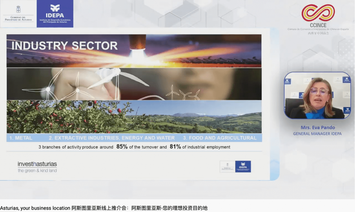 Asturias business location IDEPA Invest in Asturias CCINCE China