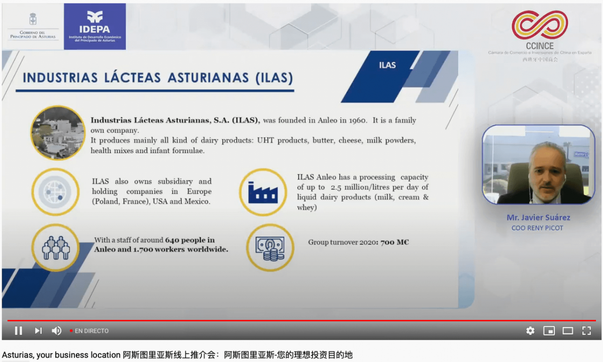 Asturias business location IDEPA Invest in Asturias CCINCE China Reny Picot